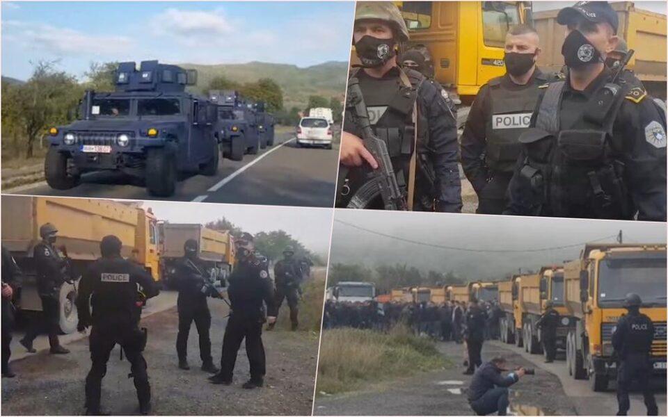 ТЕНЗИЧНО ВЕЧЕРВА НА КОСОВО: Косовските специјалци фрлија солзавец, тргнаа и оклопни возила (ВИДЕО)