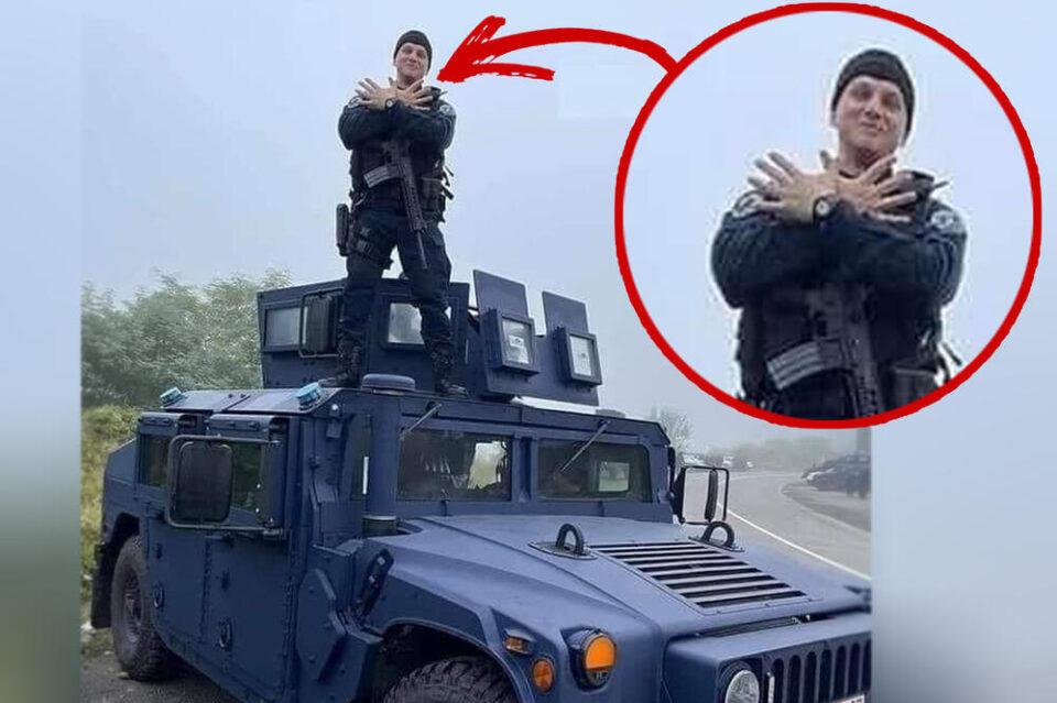 ФОТО: Косовски специјалец ги провоцираше Србите и ги збесна српските медиуми