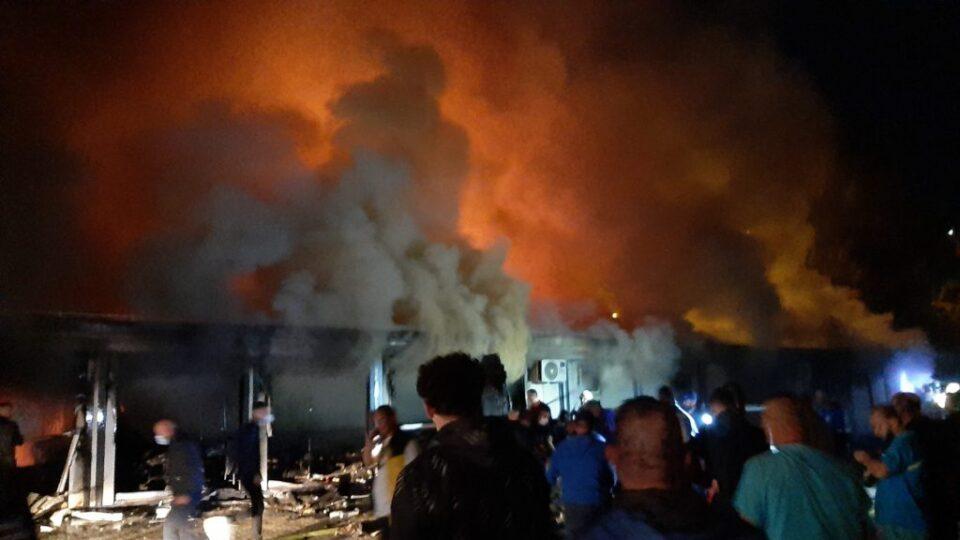 ХАОС ВО ТЕТОВО: Страшни снимки од пожарот во Ковид центарот, позната е бројката на хоспитализирани пациенти