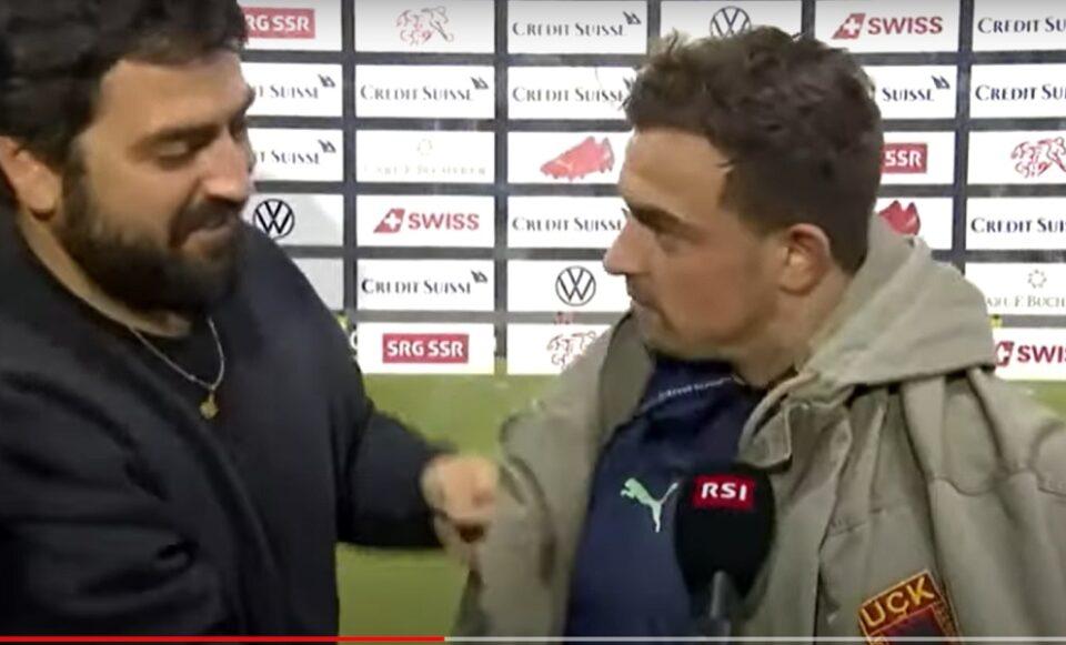 ВИДЕО: Цел Балкан зборува за реакцијата на Шаќири откако навивач му облече јакна со амблем на УЧК