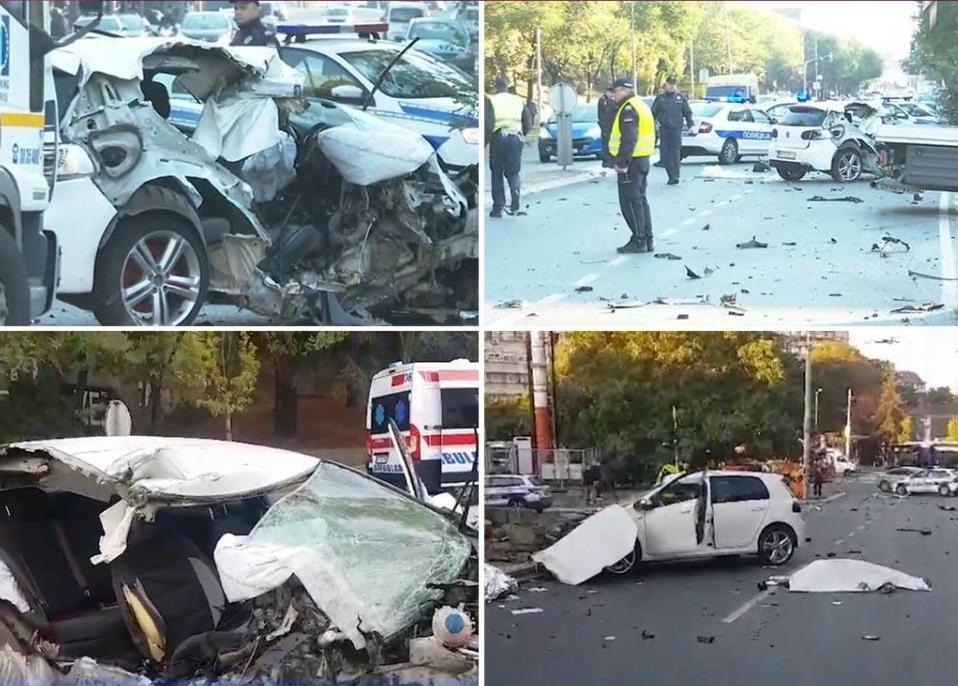 Сведоштва за трагичната сообраќајка: Телата на настраданите летаа 20 метри, за чудо возачот беше свесен (ФОТО)
